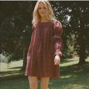 DOÊN Size XS Buttercup Dress in Rust